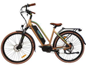 MDC-500-Copper mid drive electric bike silver- sparks, nv
