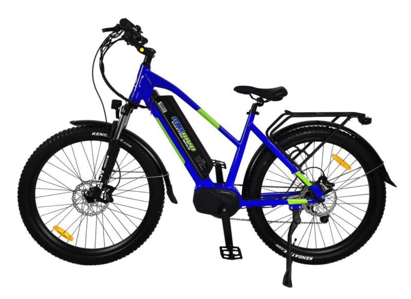 MDM500Blue2020 mid drive electric bike silver- sparks, nv
