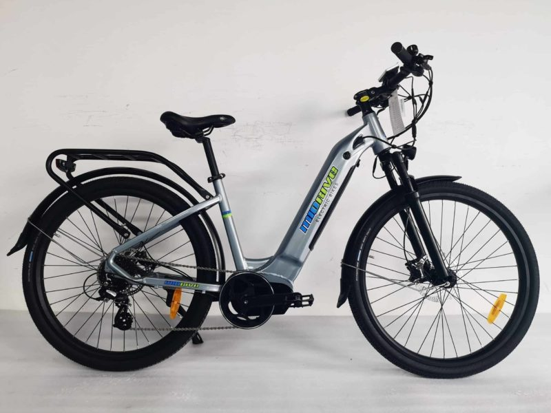 500 watt mid drive electric bike silver- sparks, nv